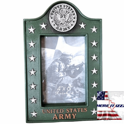 US Army Eagle Medallion 4x6  Picture Frame -