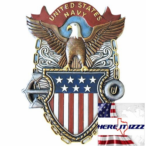 US Navy Wall Plaque