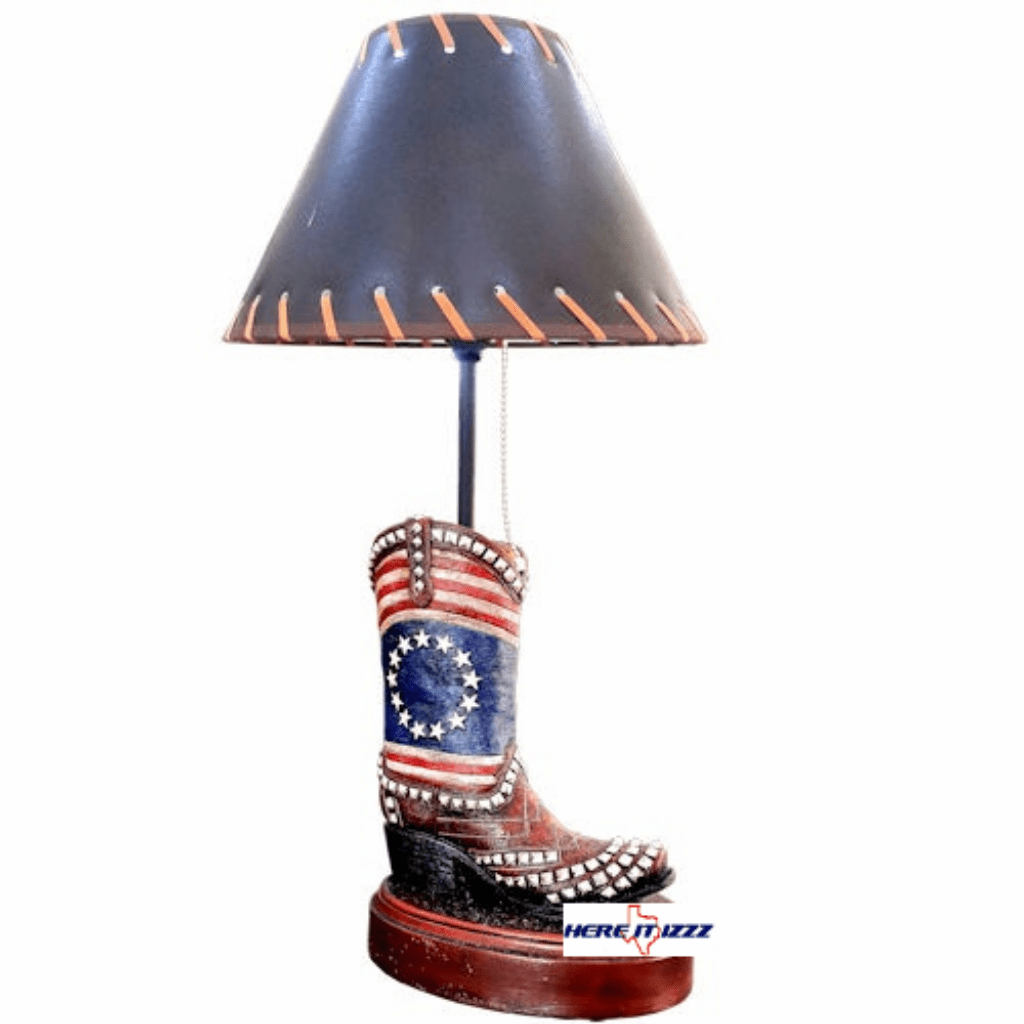USA Boot Flag Lamp