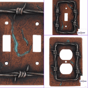 Barb Wire Switch Plate and Outlet Covers