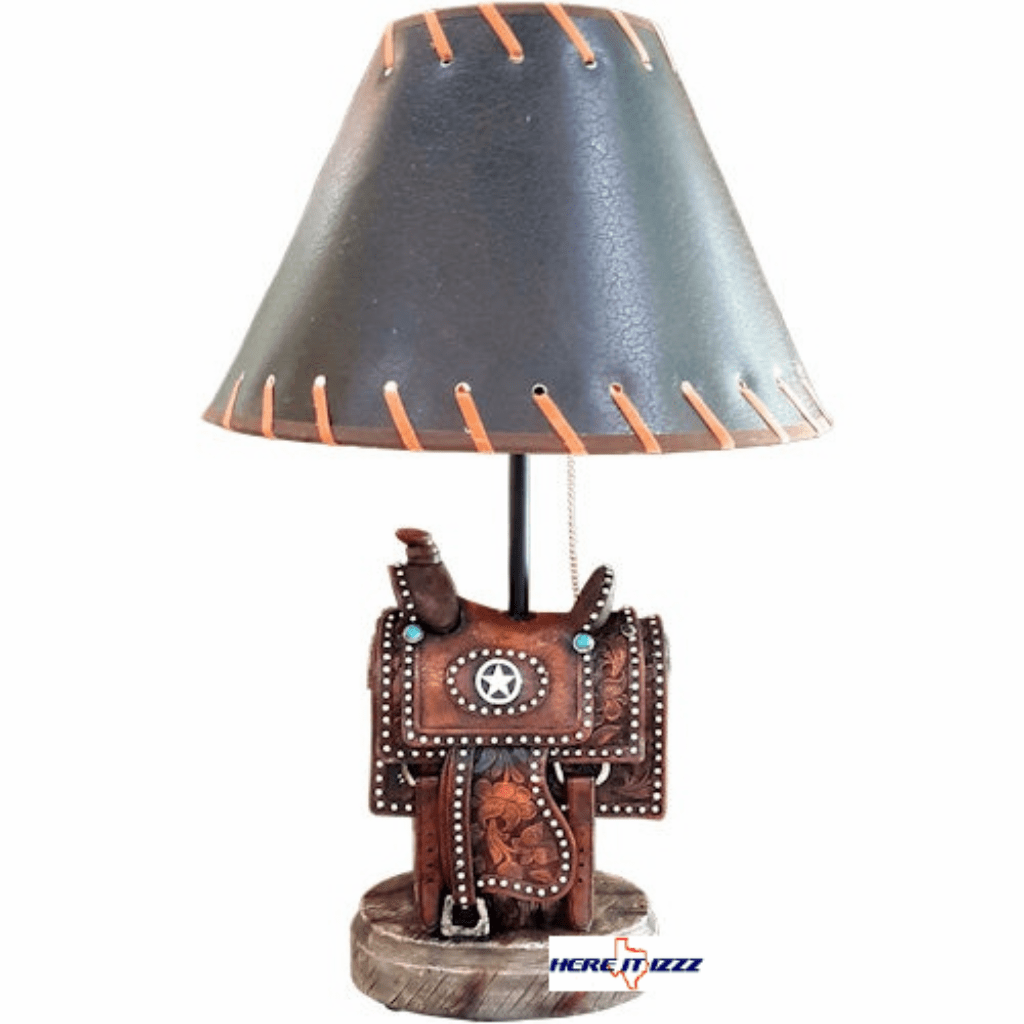 Western Cowboy Saddle Table Lamp