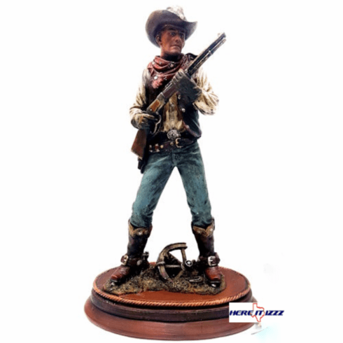 Western Cowboy with Lever Action Rifle