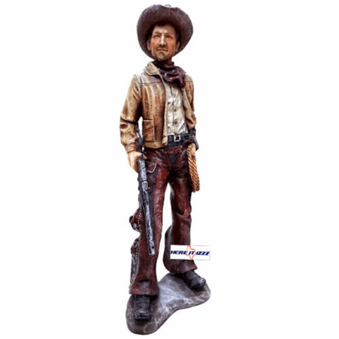 Western Cowboy with Rifle and Lariat