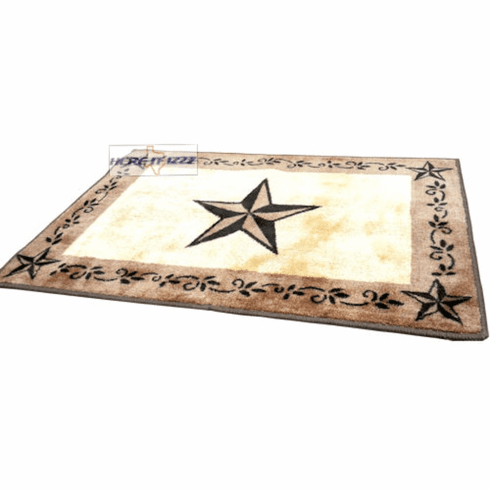 Western Creme  Star Bath & Kitchen Rug