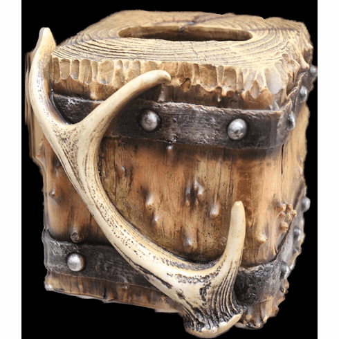 Western Rustic Lodge Antler Tissue Box Cover