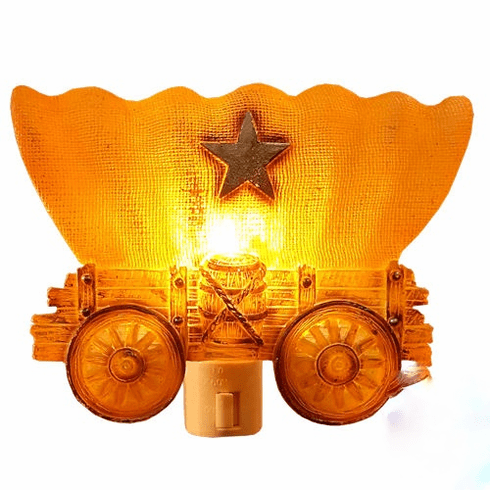 Western Stagecoach Plug In Wall Night Light