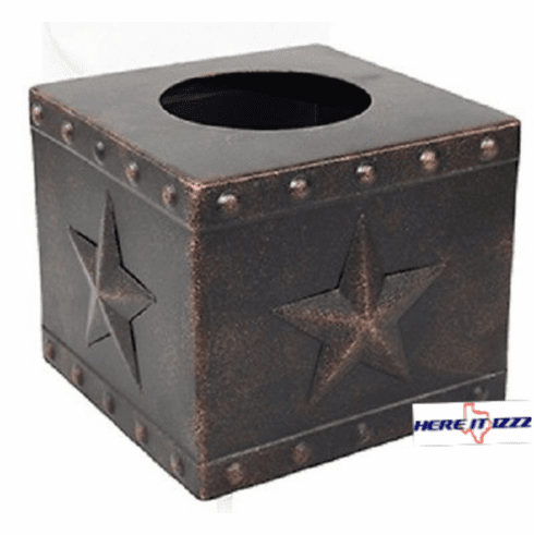 Western Star with Studs Metal Tissue Box