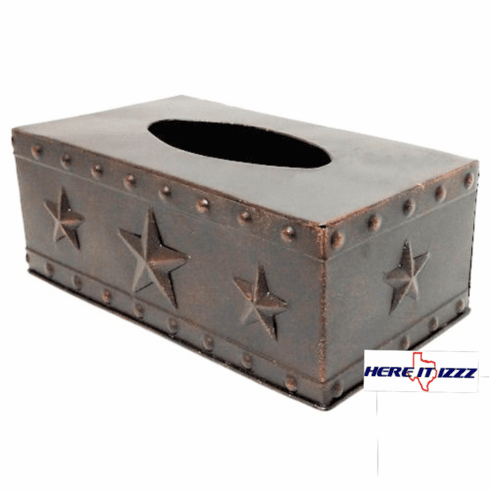 Western Stars and Studs Metal Tissue Box