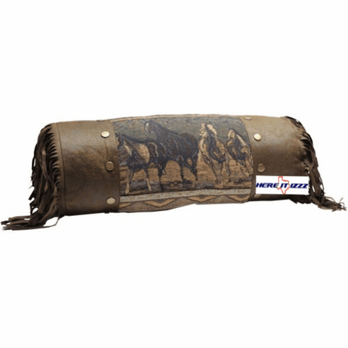 Wild Mustang Horses Neck Pillow