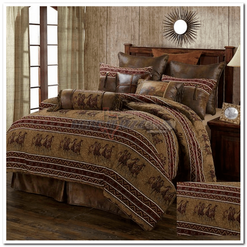 Wild Running Horses Bedding Set Full