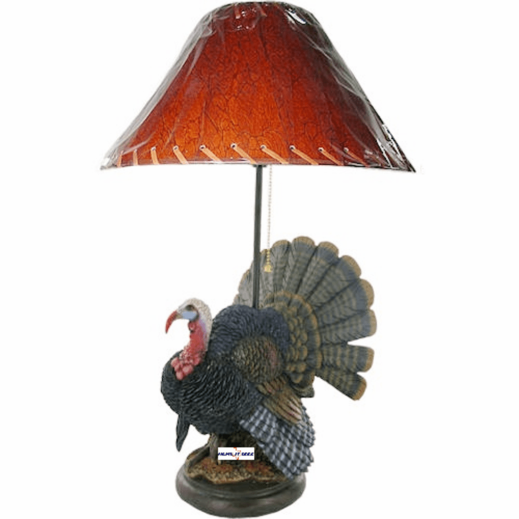 Wild Turkey Hunting Table Lamp