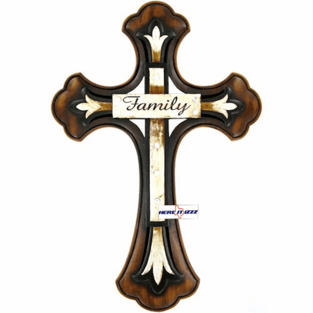Wood Family Wall Cross