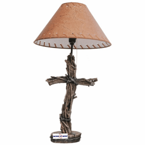Wooden Branches Cross Lamp