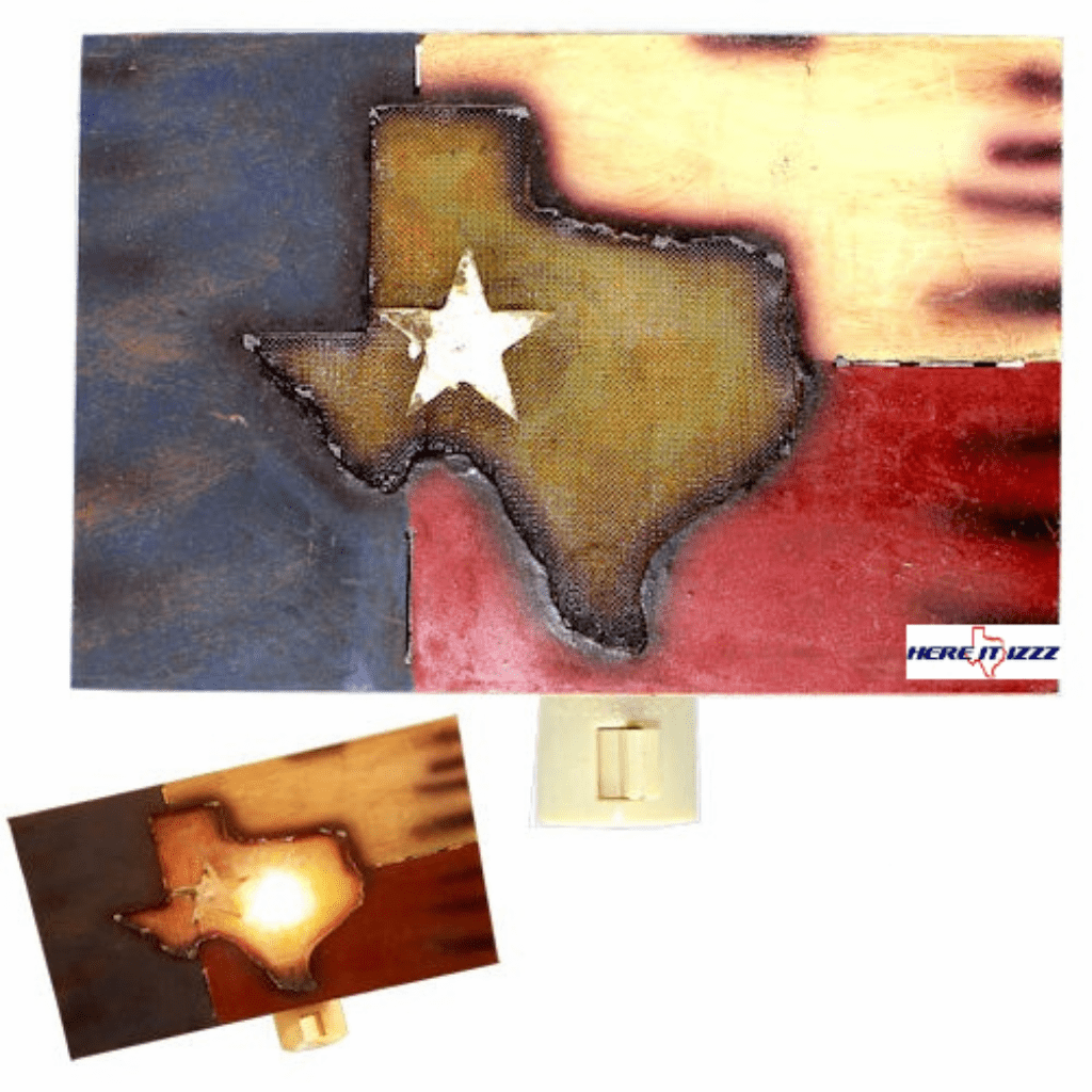 Worn Texas Flag Night Light