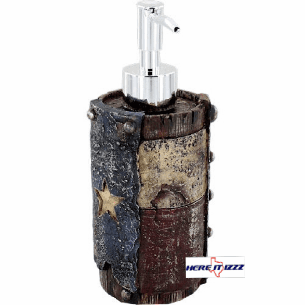 Worn Texas Flag Soap Pump