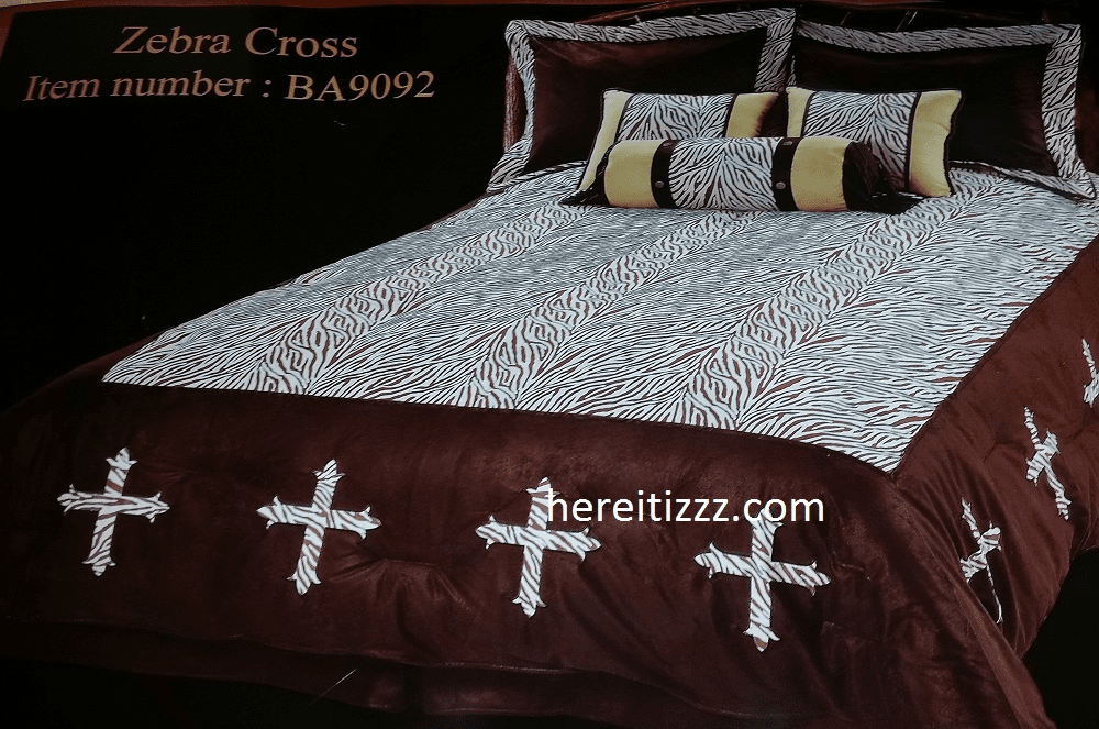 Zebra Cross 7 Piece Comforter Set Queen