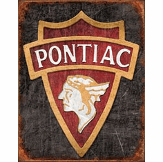1930 Pontiac Logo Tin Signs