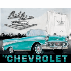 1957 Chevy Bel Air Tin Signs
