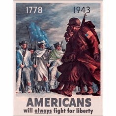 Americans - Fight for Liberty Tin Signs