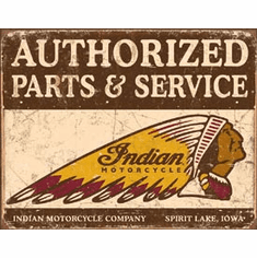 Authorized Indian Parts and Service Tin Signs