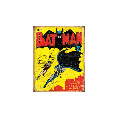 Batman No1 Cover Tin Signs