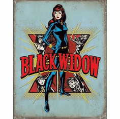 Black Widow Retro Tin Signs