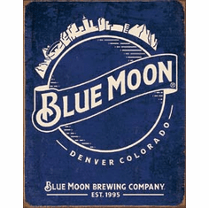 Blue Moon - Skyline Logo Retro Tin Signs