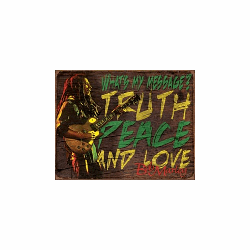 Bob Marley - Message Tin Signs