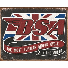 BSA - Most Popular Tin Signs