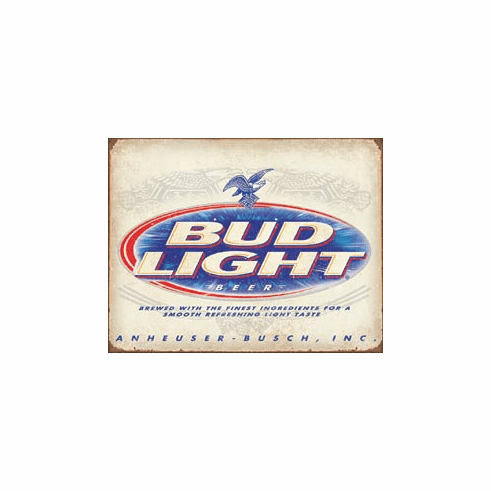 BUD Light Retro Tin Signs