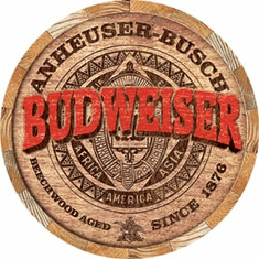 Budweiser Barrel End Tin Signs