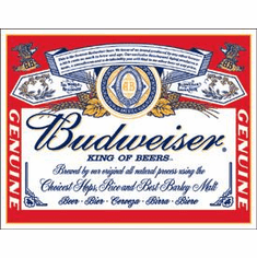 Budweiser - Label Tin Signs