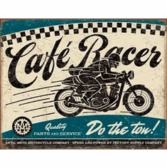 Cafe Racer Tin Signs