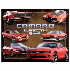 Camaro 45th Anniv. Tin Signs