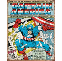 Captain America Comic Cover Tin Signs