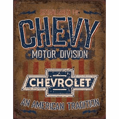 Chevy - American Tradition Tin Signs