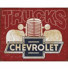Chevy Trucks 40s Tin Signs