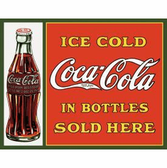 COKE Sold Here in Bottles