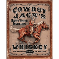 Cowboy Jacks Tin Signs