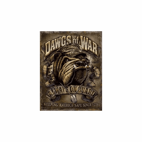 Dawgs of War Tin Signs