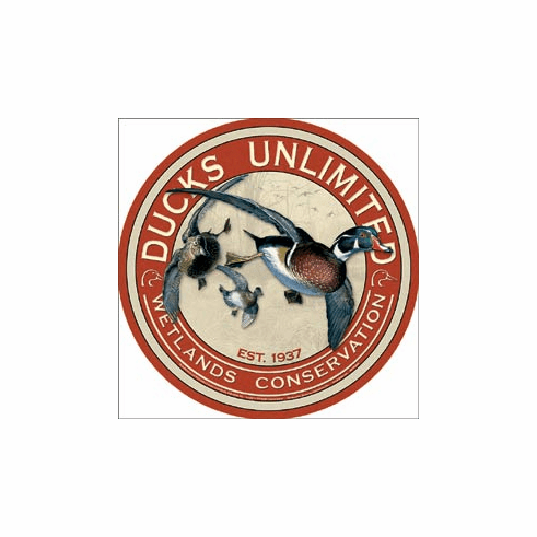 Ducks Unlimited Round Tin Signs