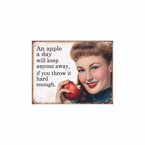Ephemera - Apple a Day Tin Signs