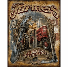 Farmers - Backbone Tin Signs