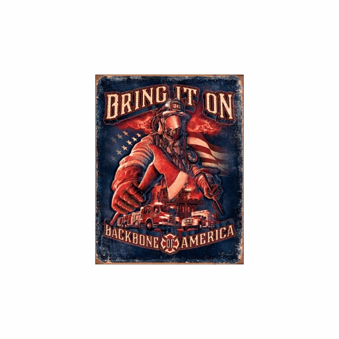 Fire Fighters - Bring It On Tin Signs