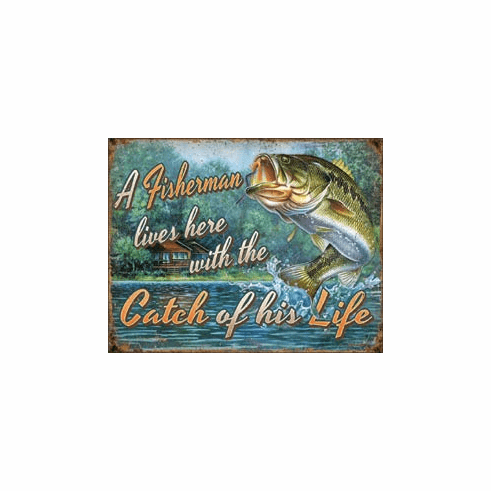 Fisherman's Catch Tin Signs