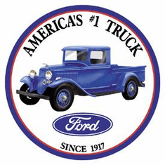 Ford Trucks - Round Tin Signs