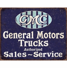 GMC Trucks - Authorized Tin Signs