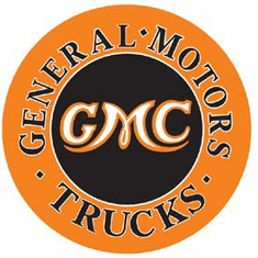 GMC Trucks Round Tin Signs