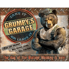 Grumpy's Garage Tin Signs