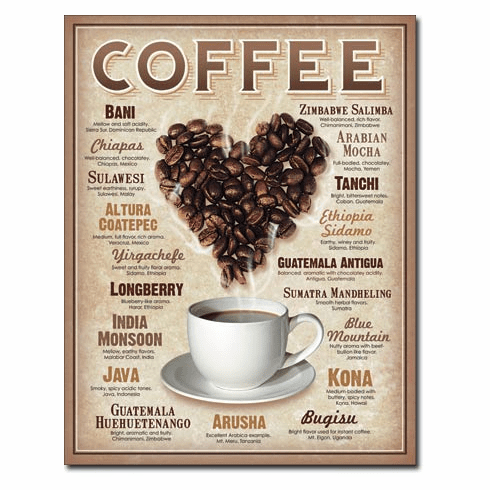 Heart Coffee Tin Signs